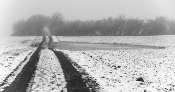 Mårslet, Hovvejen. Winter